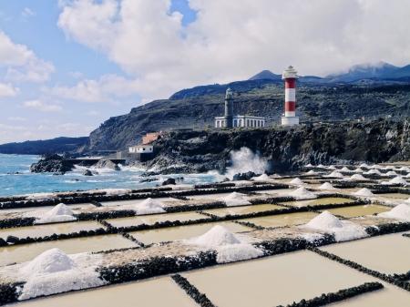 Fuencaliente Lighthouse on the island La Palma, Canary Islands, Spain