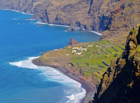 palma: Coastline of the northern La Palma, Canary Islands, Spain