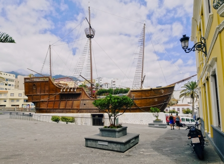 Columbus ship Santa Maria - museum in in Santa Cruz de La Palma, Canary Islands, Spain