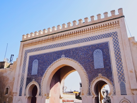bab: Bab Boujelud Gate to the old medina in Fes, Morocco, Africa
