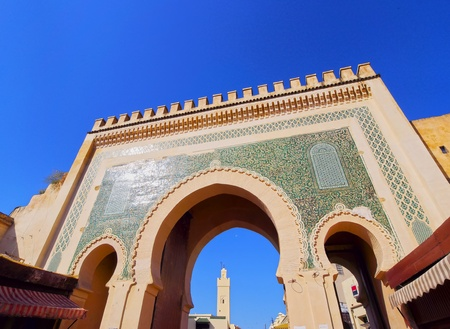 fes: Bab Boujelud Gate to the old medina in Fes, Morocco, Africa