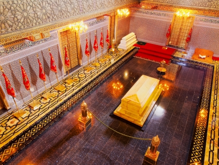mohammed: Interior of the Mausoleum of Mohammed V in Rabat, Morocco, Africa