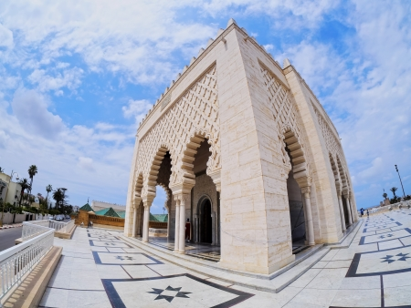 mohammed: The Mausoleum of a King Mohammed V in Rabat, Morocco, Africa