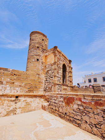 bab: Bab Ljhad - gate in fortifications of the old medina in Essaouira, Morocco, Africa