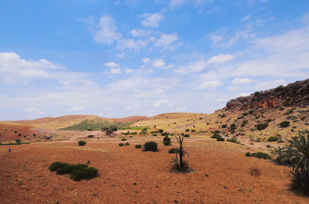 northern african: Moroccan Landscape - typical view from northern Africa