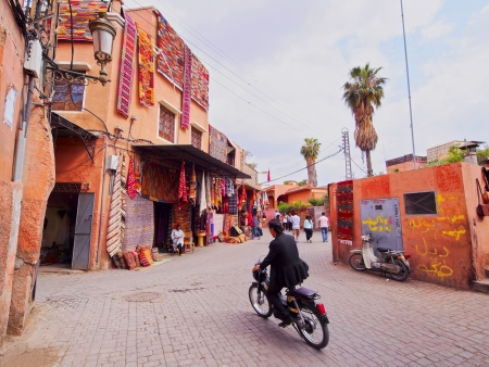 The old medina in Marrakesh, Morocco, Africa Editorial
