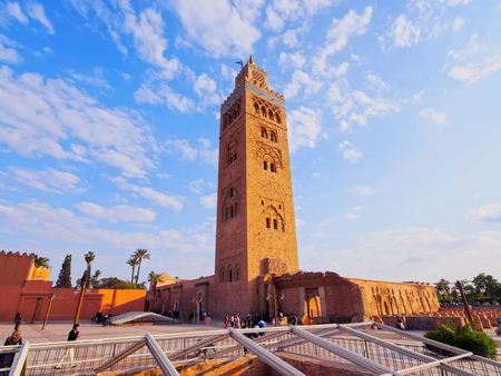 african worship: Koutoubia Mosque - the biggest mosque in Marrakech, Morocco, Africa Editorial