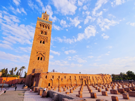 Koutoubia Mosque - the biggest mosque in Marrakech, Morocco, Africa