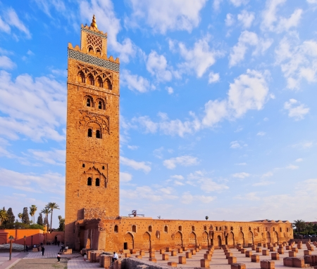 Koutoubia Mosque - the biggest mosque in Marrakech, Morocco, Africa Editorial
