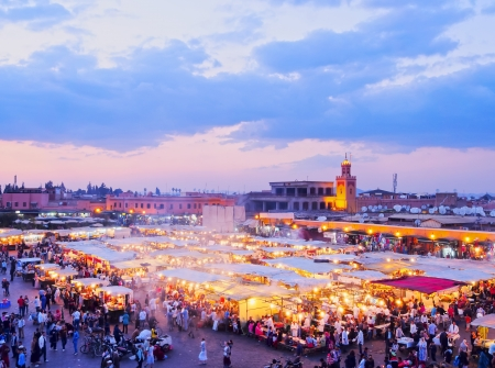 medina: Jamaa el Fna - famous square in Marrakech, Morocco, Africa
