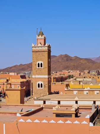 Agdz - small town on the way to  the Zagora Desert in Morocco, Africa photo