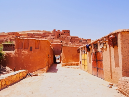 Ait Benhaddou - fortified city on the route between the Sahara Desert and Marrakech in Morocco, Africa photo