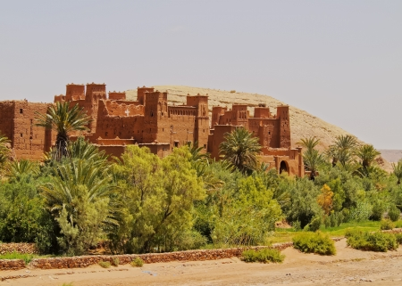 fortified: Ait Benhaddou - fortified city on the route between the Sahara Desert and Marrakech in Morocco, Africa