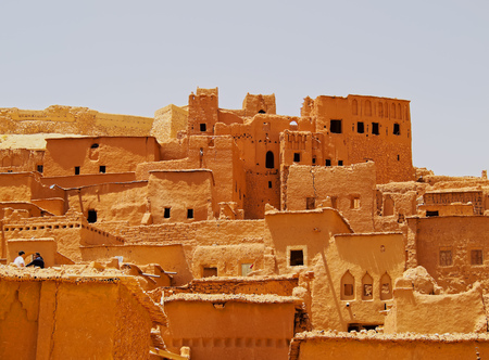 african village: Ait Benhaddou - fortified city on the route between the Sahara Desert and Marrakech in Morocco, Africa