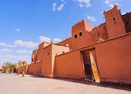 Kasbah Taourirt - adobe traditional building in eastern Ouarzazate, Morocco, Africa photo