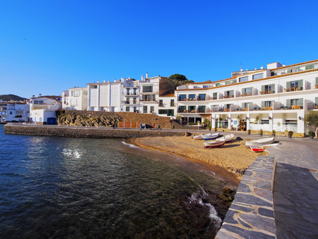 Cadaques - one of the most touristic towns of Costa Brava, Catalonia, Spain photo