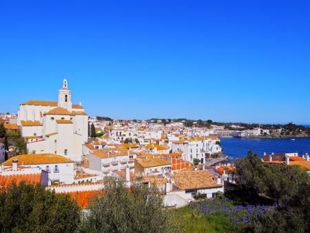 Church of Saint Mary in Cadaques - small coastal town on Cap de Creus peninsula in Catalonia, Spain photo