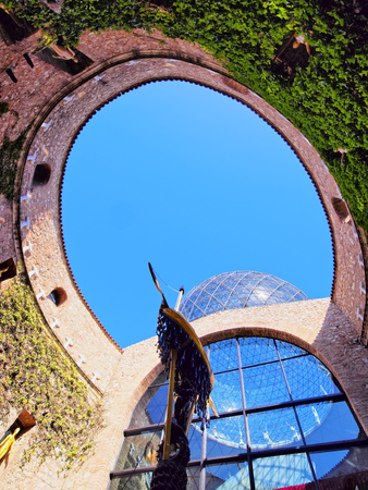 FIGUERES - APRIL 14: Dali Theatre and Museum, opened on September 28, 1974 and housing the largest collection of works by Salvador Dali on April 14, 2013 in Figueres, Catalunya, Spain