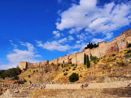 palatial: The Alcazaba - old fortification in Malaga, Andalusia, Spain