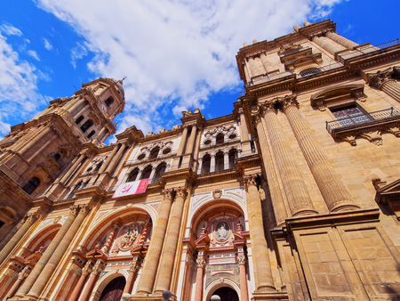incarnation: The Cathedral of the Incarnation in Malaga, Andalusia, Spain