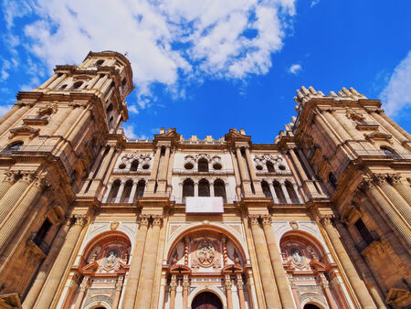 The Cathedral of the Incarnation in Malaga, Andalusia, Spain photo
