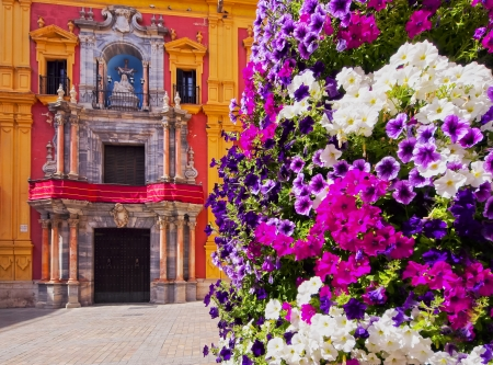 andalucia: Cityscape of Malaga - capital of the Province of Malaga on Costa del Sol in Andalusia, Spain