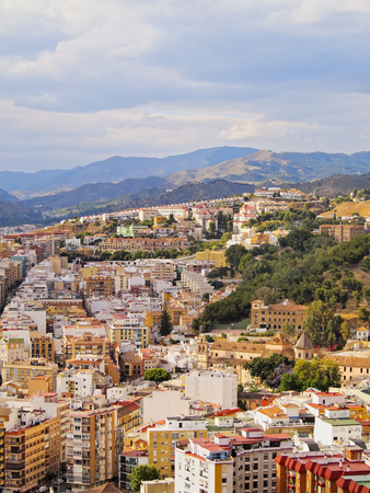 malaga: Cityscape of Malaga - capital of the Province of Malaga on Costa del Sol in Andalusia, Spain