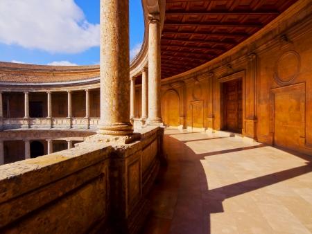 carlos: Palacio de Carlos V - The Palace of Charles V in Alhambra, Granada, Andalusia, Spain