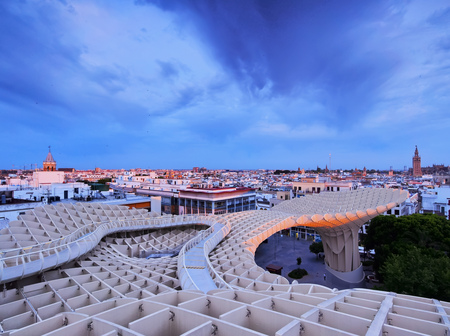 Metropol Parasol on La Encarnacion Square in Seville, Andalusia, Spain