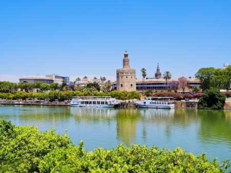 View of Guadalquivir River in Seville, Andalusia, Spain