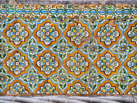 Portuguese Ceramic Tiles - Houses built in a traditional style are covered with such decoration. photo