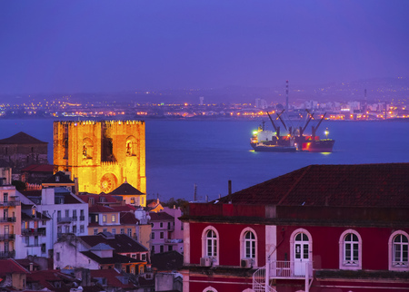 patriarchal: The Patriarchal Cathedral of St. Mary Major in Lisbon, Portugal