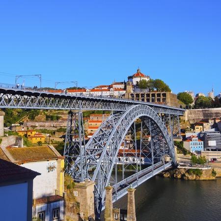 Ponte Luis I - famous bridge in Porto, Portugal photo