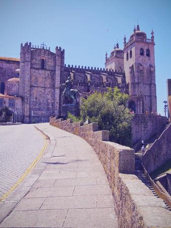 se: Se do Porto - Cathedral in Porto, Portugal Stock Photo