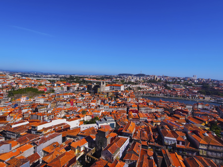 View from Torre dos Clerigos - Clerigos Tower in Porto, Portugal photo