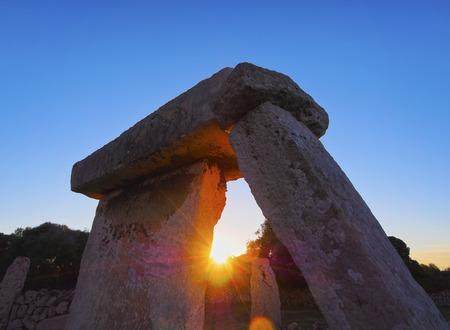 Talati de Dalt - T-shaped stone monument on Menorca, Balearic Islands, Spain photo