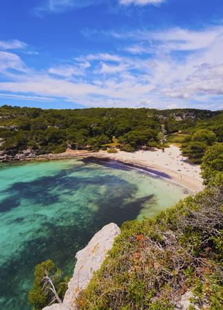 Cala Macarella on Menorca, Balearic Islands, Spain photo