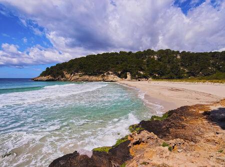 Cala Trebaluger on Menorca, Balearic Islands, Spain Banco de Imagens