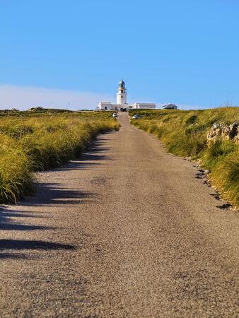 promontory: Lighthouse on Cap de Cavalleria on Menorca, Balearic Islands, Spain