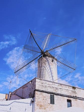 Moli des Comte - Old Windmill in Ciutadella on Menorca, Balearic Islands, Spain photo