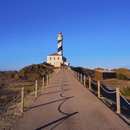 balearic: Lighthouse on Cap Fevartix on Menorca, Balearic Islands, Spain