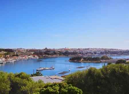 menorca: View of Mao - capital city of Menorca, Balearic Islands, Spain Stock Photo