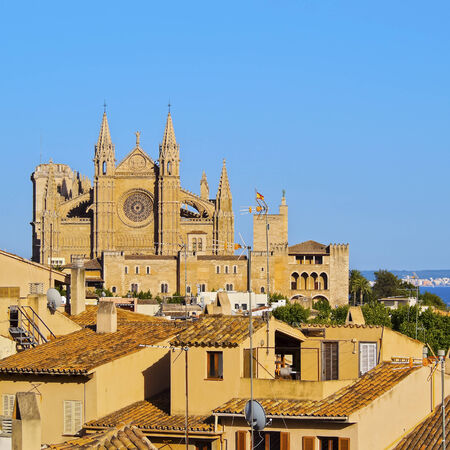 Cathedral in Palma de Mallorca, Balearic Islands, Spain photo