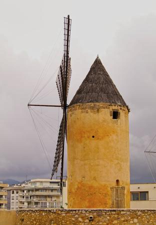 Windmill in Palma de Mallorca, Balearic Islands, Spain photo