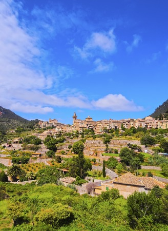 chopin: View of Valldemossa on Mallorca, Balearic Islands, Spain