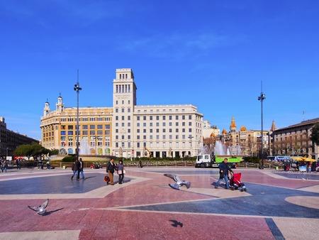 catalunya: Placa de Catalunya - Catalonia Square in Barcelona, Spain