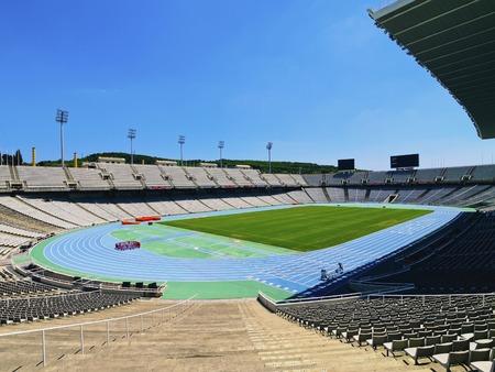olympic stadium: Estadi Olimpic - Olympic Stadium on Montjuic in Barcelona, Catalonia, Spain Editorial