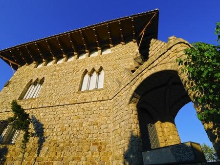 tibidabo: Typical Building on Tibidabo Mountain in Barcelona, Catalonia, Spain