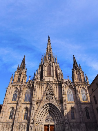 The Cathedral of the Holy Cross and Saint Eulalia in Barcelona, Catalonia, Spain photo