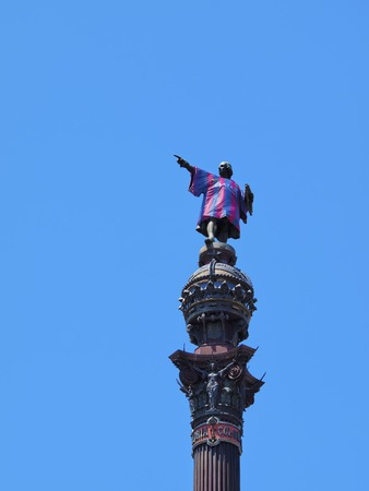 christopher columbus: Monument of Christopher Columbus in the harbour of Barcelona, Catalonia, Spain